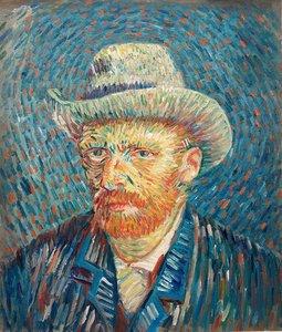 Self Portrait With Grey Felt Hat Van Gogh reproduction