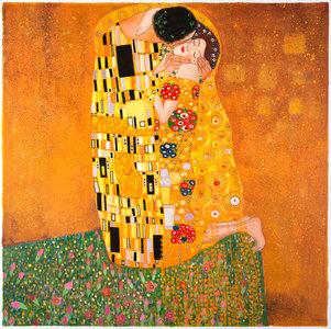 The Kiss Klimt replica