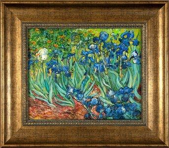 Framed small Irises Van Gogh reproduction