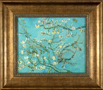 Framed small Almond Blossom Van Gogh reproduction