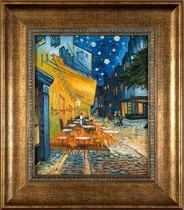 Framed small Cafe Terrace Van Gogh reproduction