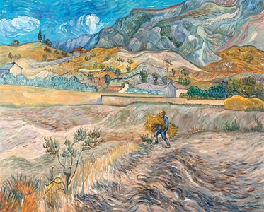 Enclosed Field with Peasant Van Gogh reproduction