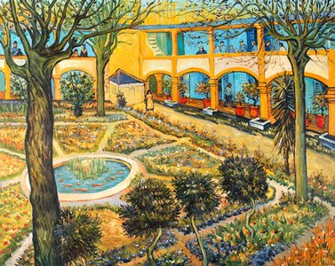 The Courtyard of the Hospital in Arles van Gogh reproduction