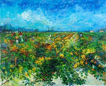 The Green Vineyard Van Gogh reproduction