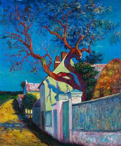 The Red Tree House Leo Gausson reproduction