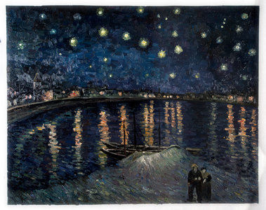 Starry Night over the Rhone Oil Painting Repro