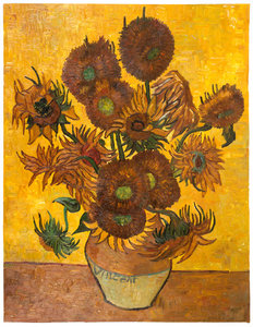 Vase with 15 Sunflowers Summer Sale