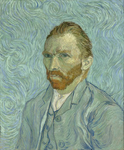Self-Portrait Vincent van Gogh Reproduction, hand-painted in oil on canvas