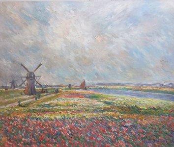 Tulip Fields near The Hague Monet reproduction