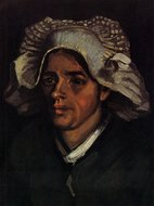 Head of a Peasant Woman with White Cap Van Gogh reproduction