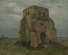 Old Church Tower at Nuenen ('The Peasants' Churchyard') Oil painting Reproduction