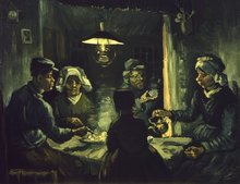 Potato Eaters Van Gogh reproduction